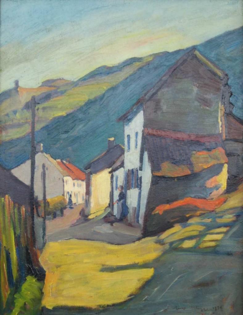 """Route à Bievels"". Nico Klopp, 1930."